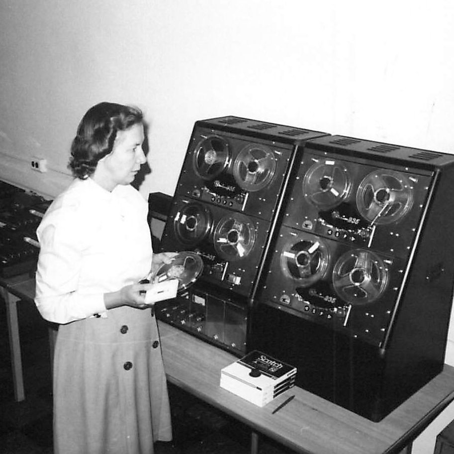 Cecilia Warner, a former employee, overlooking the audio department