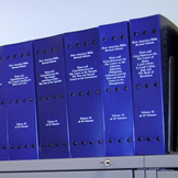 Braille bible in 45 volumes