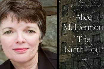 Author Alice McDermott pictured alongside her book The Ninth Hour that we just added in braille