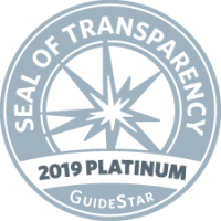 The 2019 Guidestar Platinum seal of transparency
